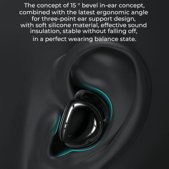 JOYROOM JR-T10 fehér - Töltődobozos Hi-Fi Bluetooth fülhallgató, Airoha chip, aluminium ház, nagy akku kapacitás