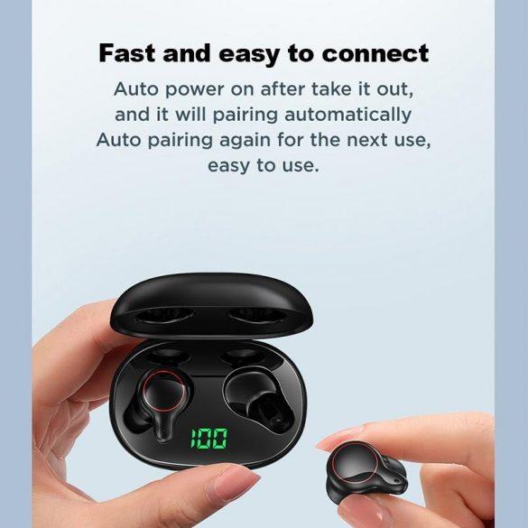 JOYROOM JR T12 - Vezeték nélküli bluetooth 5.0 fülhallgató, töltöttség kijelzése