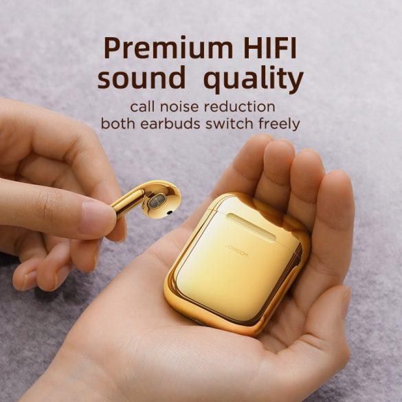 JOYROOM T03S arany - TWS, prémium vezeték nélküli bluetooth 5.0 fülhallgató, IQ (vezeték nélküli) töltés.