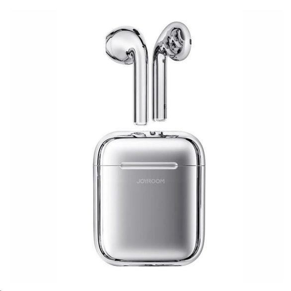 JOYROOM T03S ezüst - TWS, prémium vezeték nélküli bluetooth 5.0 fülhallgató, IQ (vezeték nélküli) töltés.