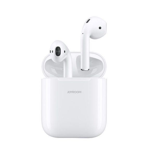 JOYROOM T03S fehér - TWS, prémium vezeték nélküli bluetooth 5.0 fülhallgató, IQ (vezeték nélküli) töltés.