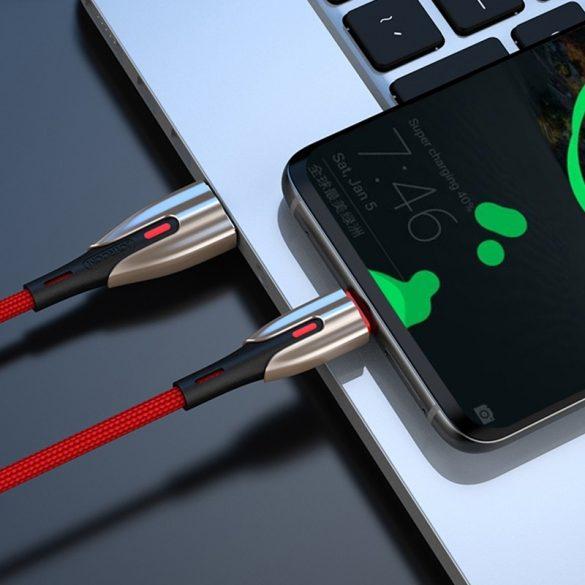 Joyroom S-M379 - 1 méter, 5.5 Amperes töltés, USB Type C kábel, cink bevonat, gyöngyvászon borítás