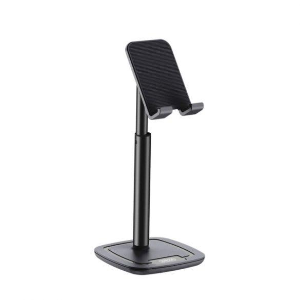 Joyroom asztali telefon tartó, 260mm magasság, alumínium test - fekete