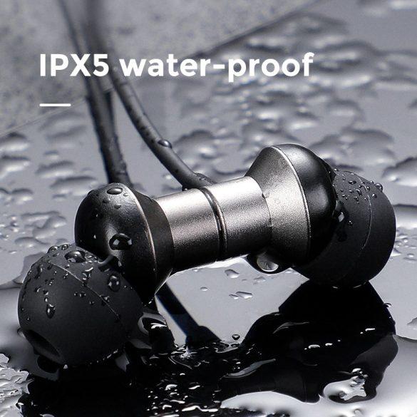 Joyroom JR-D7 - IPX5 vízálló Bluetooth 5.0 sport mágneses headset mikrofonnal alu házban