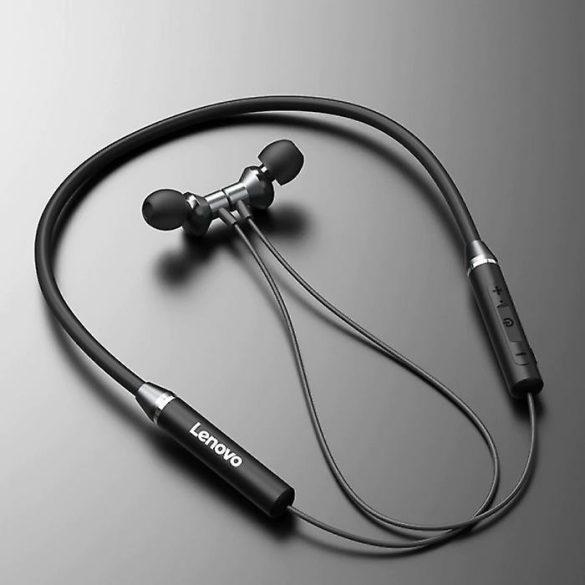 Lenovo HE05 Red - Nyakba akasztható PX5 vízálló Bluetooth sport mágneses headset mikrofonnal alu házban