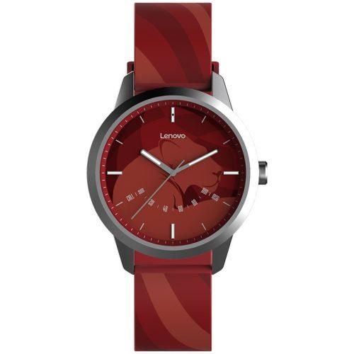 Lenovo Watch 9 vízálló hibrid okosóra, IP67 vizállóság -piros