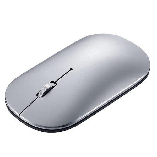 Lenovo Air2 vezeték nélküli egér - Bluetooth + 2,4 Ghz-es vezeték nélküli kapcsolat, 10 méteres hatótáv - ezüst