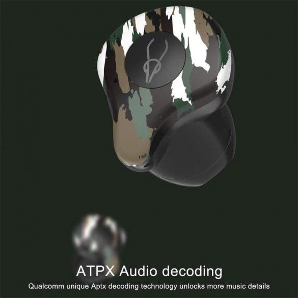 Sabbat X12 Amazon, terepszínű - TWS Bluetooth 5.0 HD hangélmény, IPX3, aptx/aac/sbc kodekek