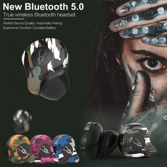 Słuchawki bezprzewodowe dokanałowe Sabbat X12 Amazon - kamuflaż