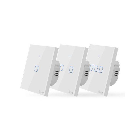 Sonoff® T0 - Wifis, okos fali villany érintőkapcsoló: 1, 2 vagy 3-as kapcsolóval - Amazon Echo, Google Home és IFTTT integrálhatóság
