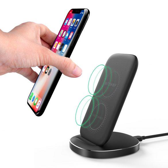 BlitzWolf® BW-FWC6 - 5W/7,5W/10W-os vezeték nélküli töltő minden QI szabványt támogató telefonhoz