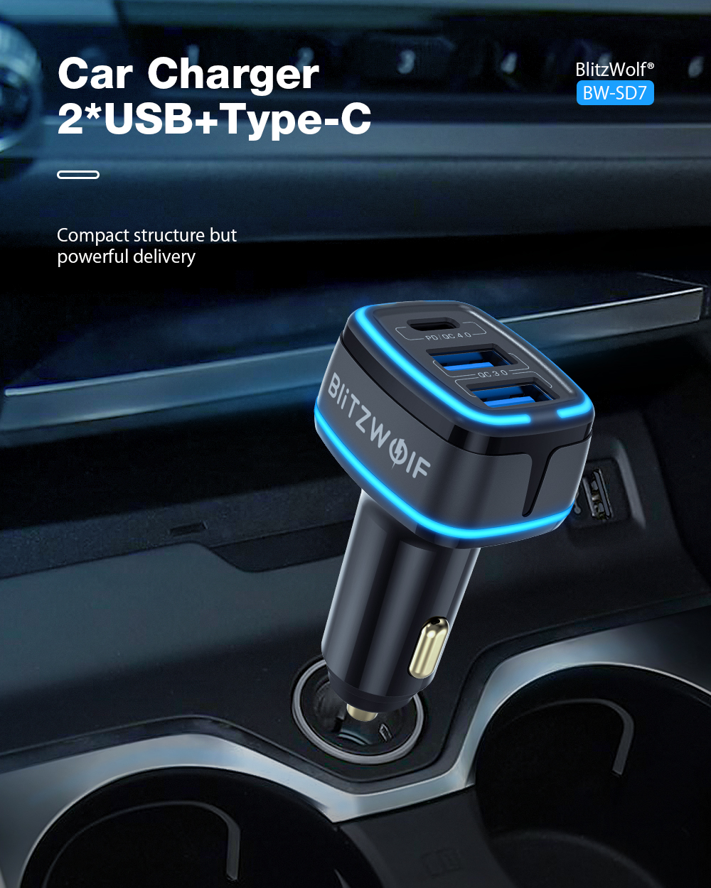 BlitzWolf BW-SD7 car charger