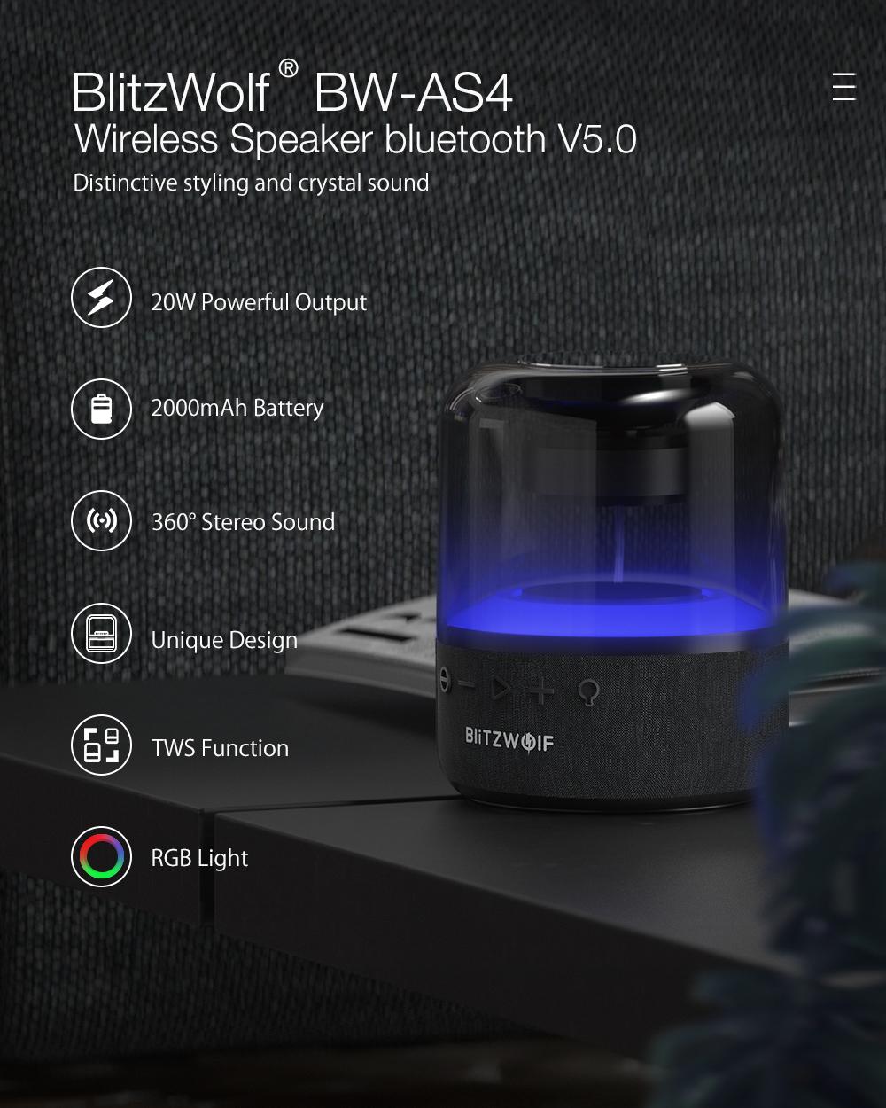 blitzwolf BW-AS4 Bluetooth hangszóró