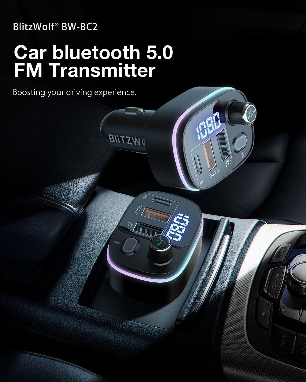Blitzwolf BW-BC2 autós Bluetooth transmitter
