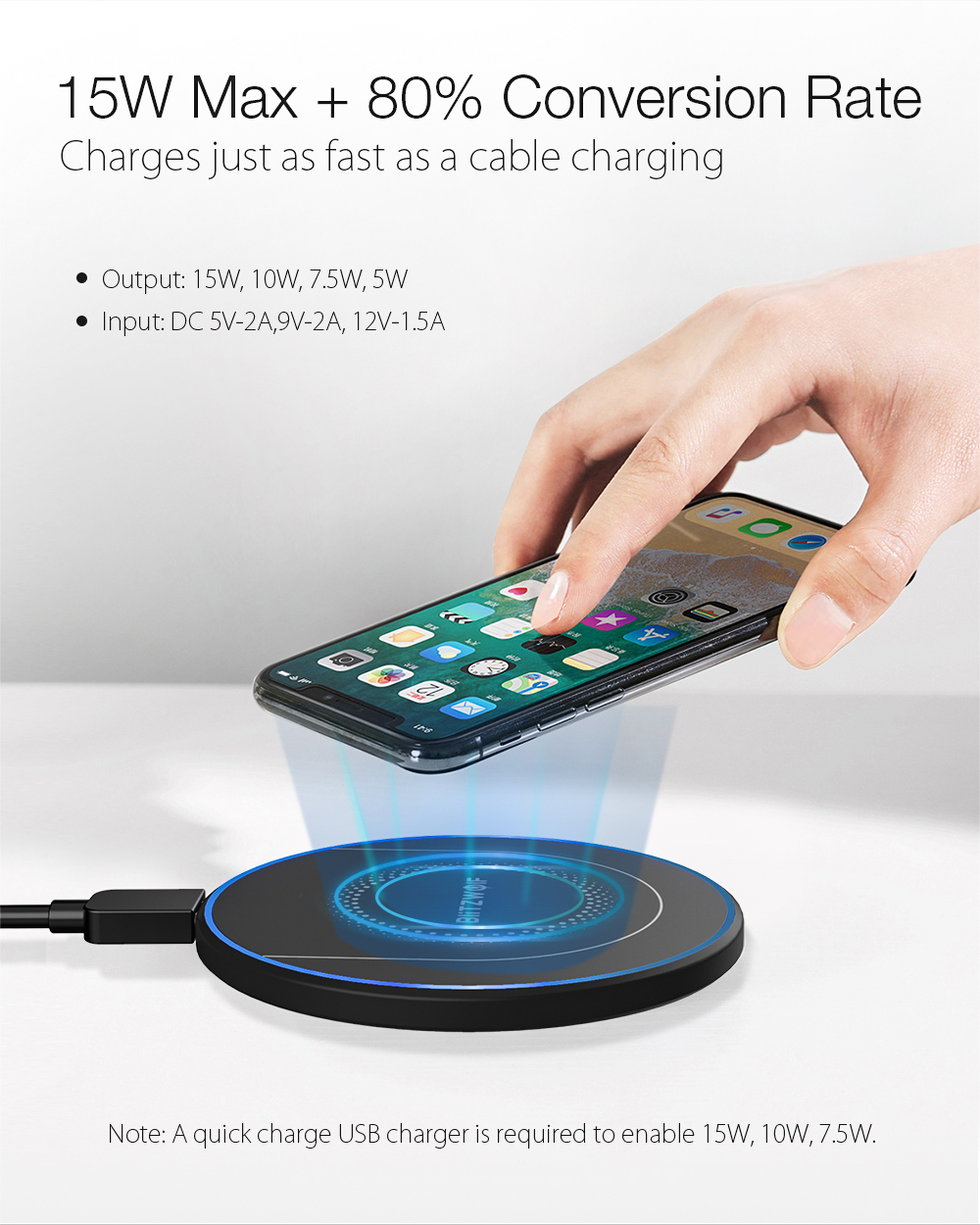 BlitzWolf BW-FWC7 QI wireless charger