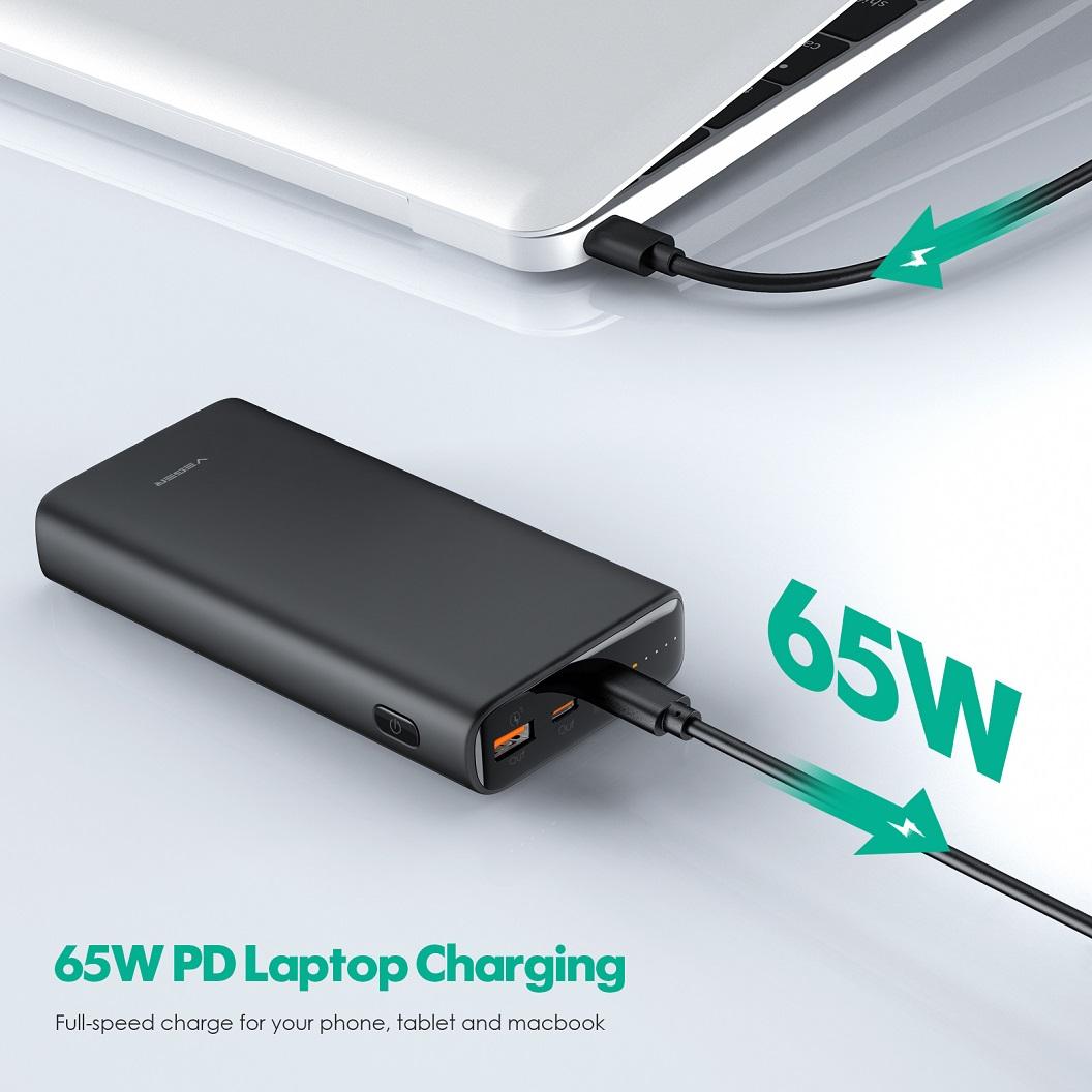 Veger T65A PD65W laptop power bank