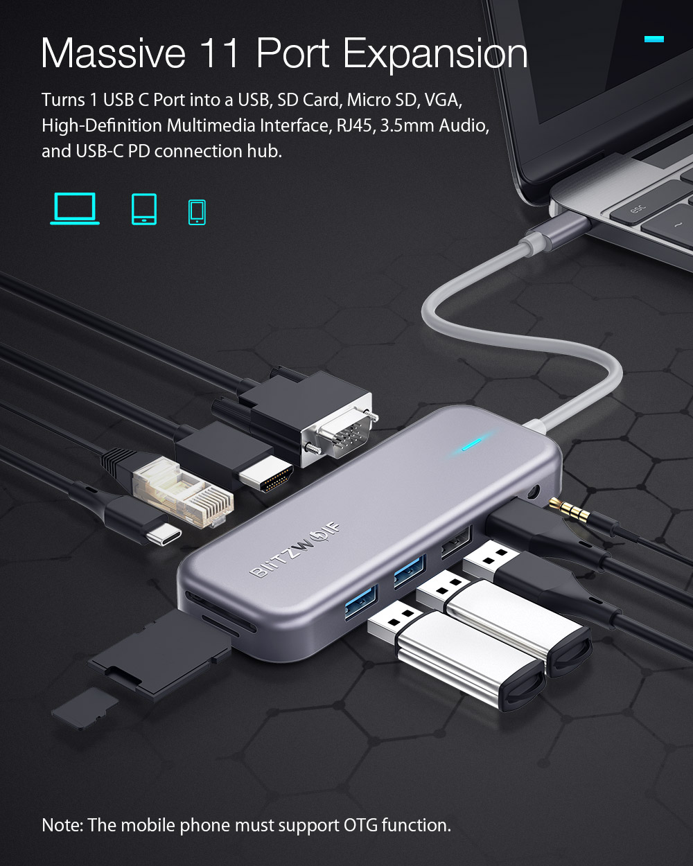 Blitzwolf BW-TH8 - USB Hub