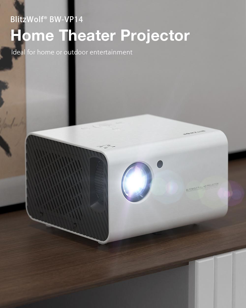 Blitzwolf 1080P Házmozi Projektor BW-VP14