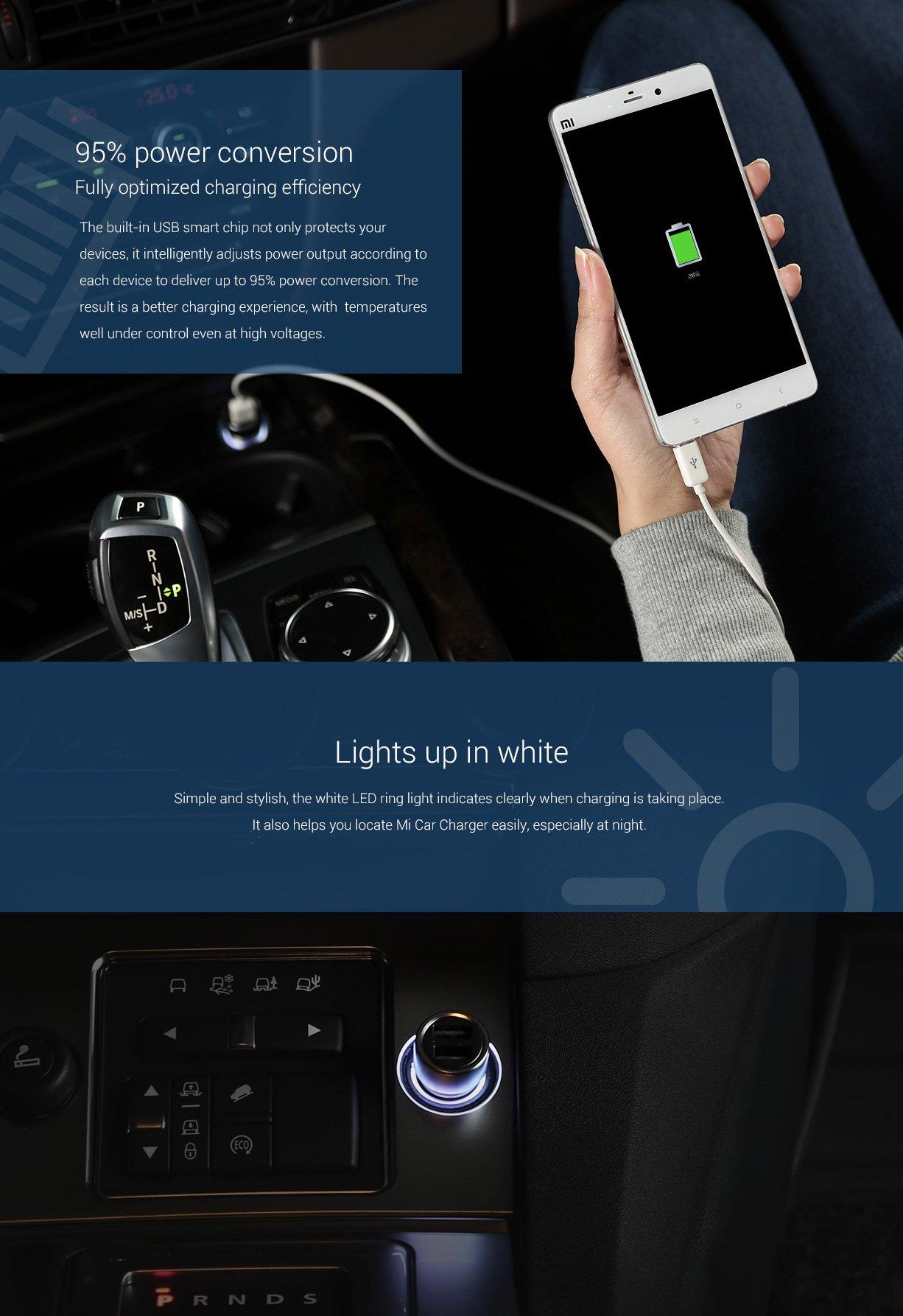 Xiaomi fém autós USB szivargyújtóba dugható töltő